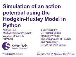 2013 Action Potential Modeling in PYTHON