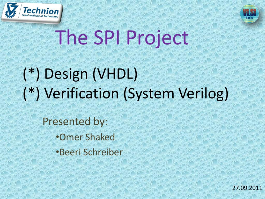 spi_mid_presentation - vlsi-spi