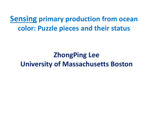 Sensing primary production from ocean color