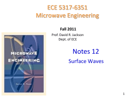 Notes 12 - Surface waves