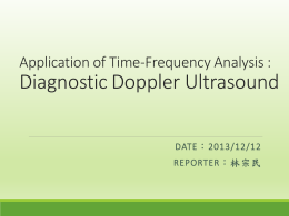 Application of Time-Frequency Analysis : Ultrasound Doppler Imaging