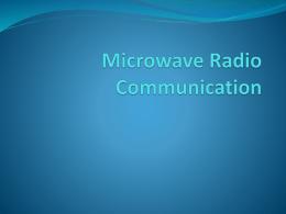 Microwave Radio Communication