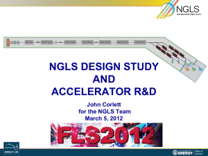 NGLS Design Study and Accelerator R&D