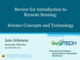 7.1Intro to Remote Sensing GeoTed Ajohnson V4