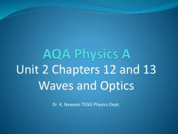 Waves (AQA Unit 2)