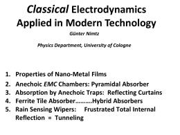 Nano metal films