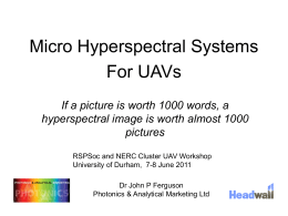 `A talk on `Micro-Hyperspec systems`
