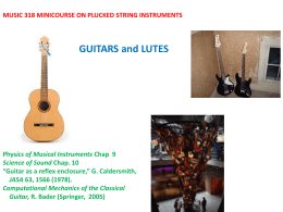 GUITARS AND LUTES