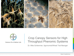 Crop Canopy Sensors for High Throughput Phenomic Systems