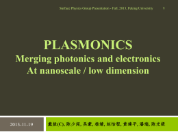 Plasmon Enhanced Light Sources
