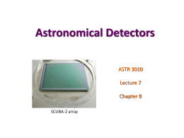 Astronomical Detectors