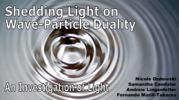 Shedding Light on Wave-Particle Duality