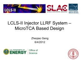 MicroTCA for LCLS-II Injector LLRF System