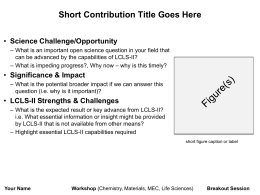Template for contributed ideas from workshop participants