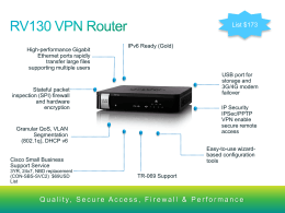 Cisco RV130/RV130W Product Overview