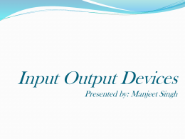 INPUT AND OUTPUT UNIT