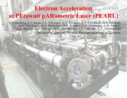Electron Acceleration at PEtawatt pARametric Laser