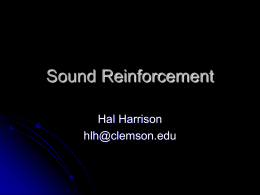 Sound Reinforcement Presentation