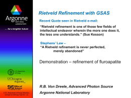 Profile Refinement with GSAS - The Canadian Institute for Neutron
