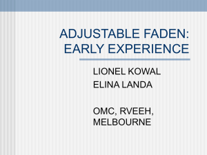 Adjustable Faden procedure