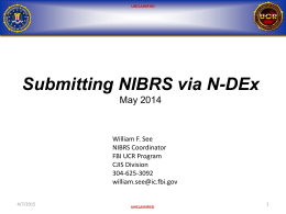 Submitting NIBRS via N-DEX Interface