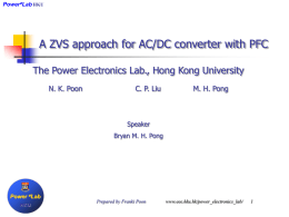 A ZVS approach for AC/DC converter with PFC