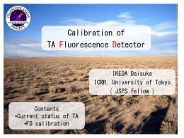 Calibration of TA Fluorescence Detector