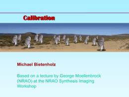 Calibration and Editing - Hartebeesthoek Radio Astronomy