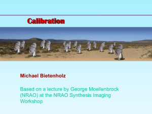 Calibration and Editing - Hartebeesthoek Radio Astronomy