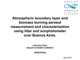 Atmospheric boundary layer and biomass burning aerosol