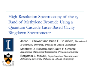 High-Resolution Spectroscopy of the ν8 Band of Methylene Bromide