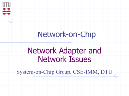 NoC theory part II: Network adapters