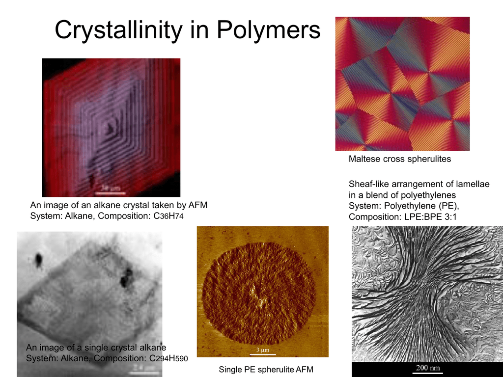Crystallinity - Loy Research Group
