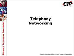 Telephony Ntwk v3 0 PowerPoint