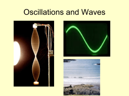 Oscillations and Waves SL