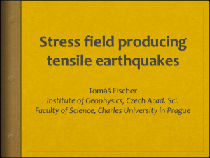 Stress field producing tensile earthquakes