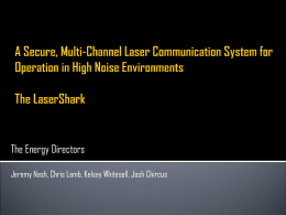 A Secure, Multi-Channel Laser Communication System for