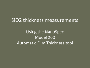 SiO2 thickness measurements