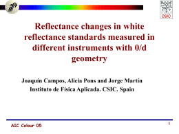 Reflectance changes i