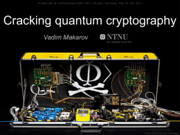 Cracking quantum cryptography