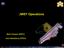 JWST Operations for Transit Observation