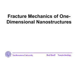 Northwestern University Rod Ruoff Nanotechnology