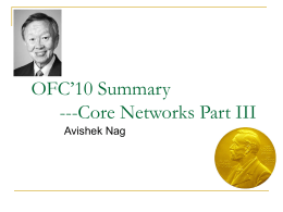 OFC`10 Summary ---Core Networks Part II