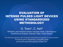 Evaluation of IPL Devices