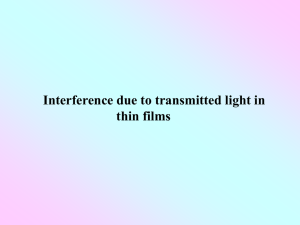 Interference due to transmitted light in thin films