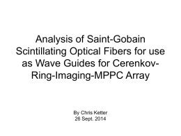 Analysis of Saint-Gobain Scintillating Optical Fibers for use as Wave