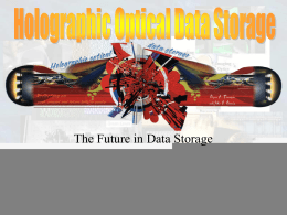 Holographic Optical Data Storage