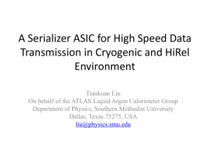 A Serializer ASIC for High Speed Data Transmission in Cryogenic