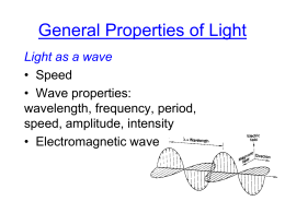 General Properties of Light