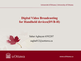 Digital Video Broadcasting for Handheld devices(DVB
